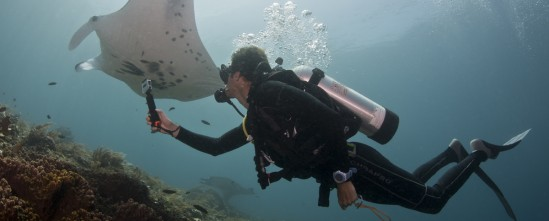 Jason filming reef mantas in Raja Ampat copy